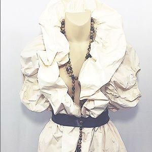 Ryu  cream ruffled jacket